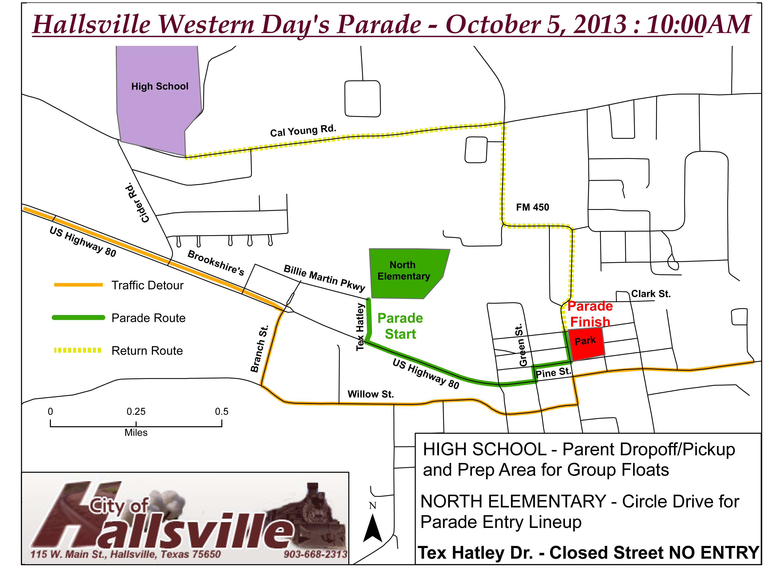Hallsville Western Days Parade Map 2013